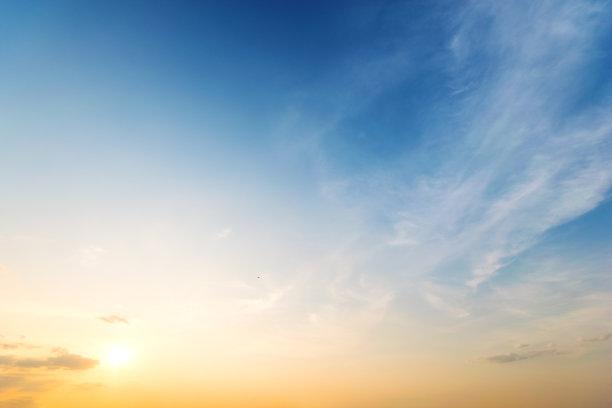 蓝色,背景,天空
