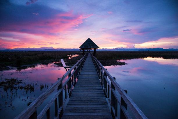 背景,天空,桥