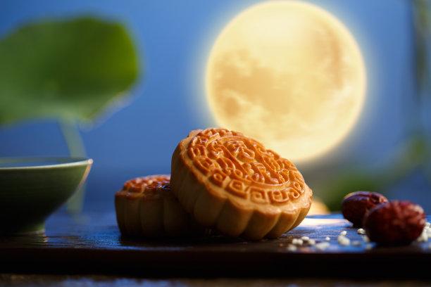 中秋节月饼酥皮糕点