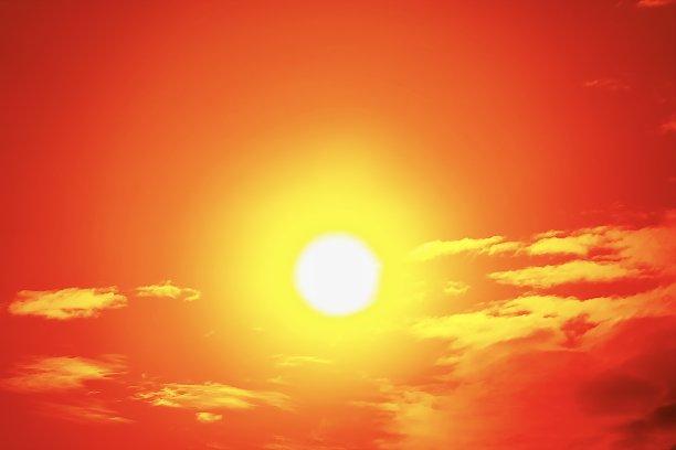 橙色,夏天,户外