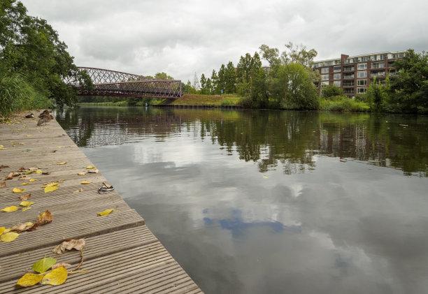 运河,城镇,荷兰