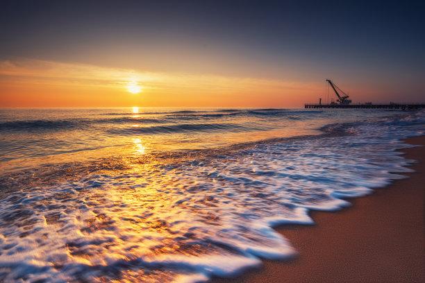 波浪,沙子,海洋