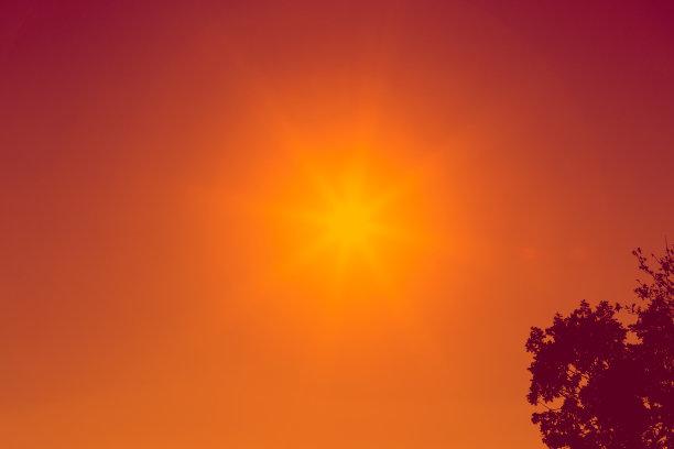 天空,红色,日光