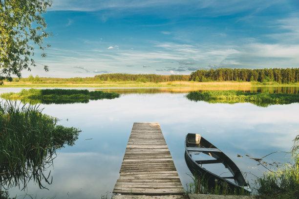 船,湖,河流
