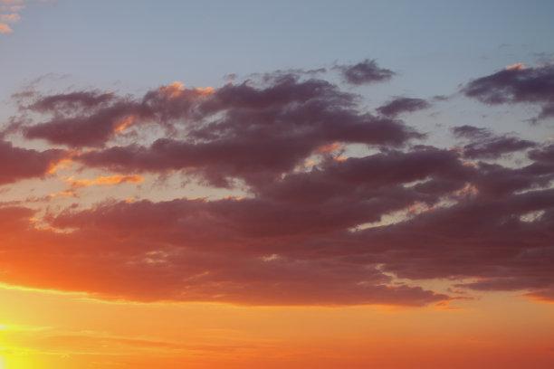 黄昏,天空,色彩鲜艳