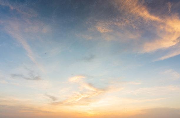 云景,黄昏,天空