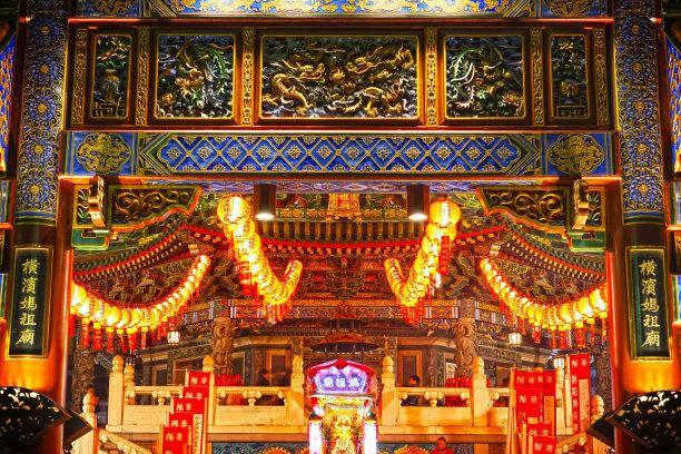 春节横滨寺庙