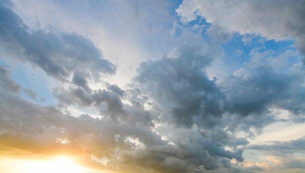 云,白色,自然