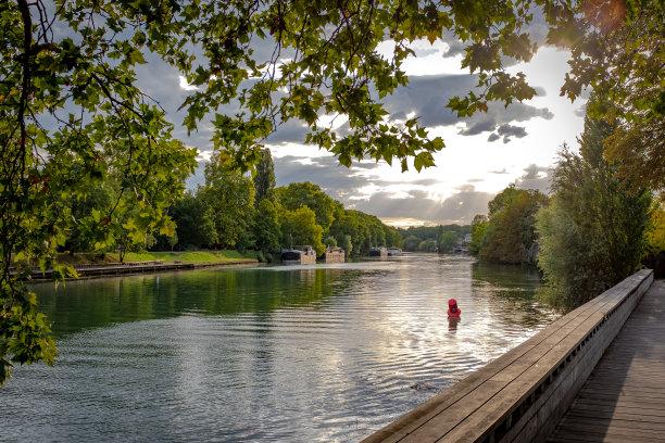 法国,河流,白昼