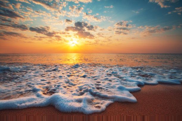 云景,海洋,黎明