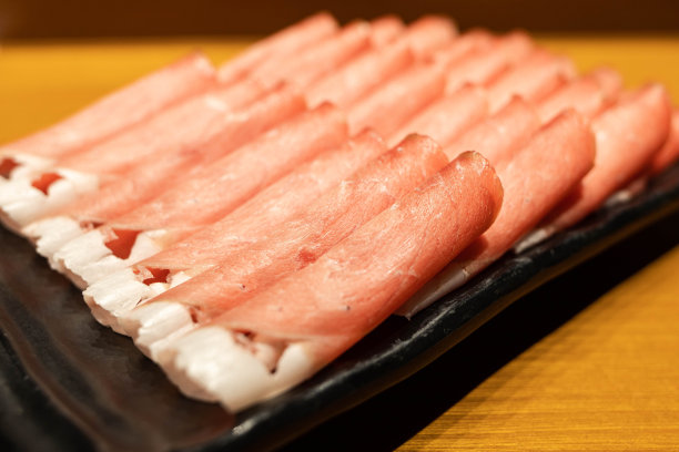 切片食物肉制品横截面