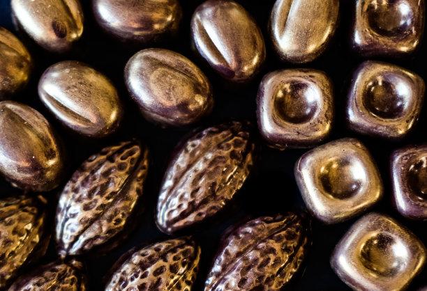 黄金食品黑巧克力