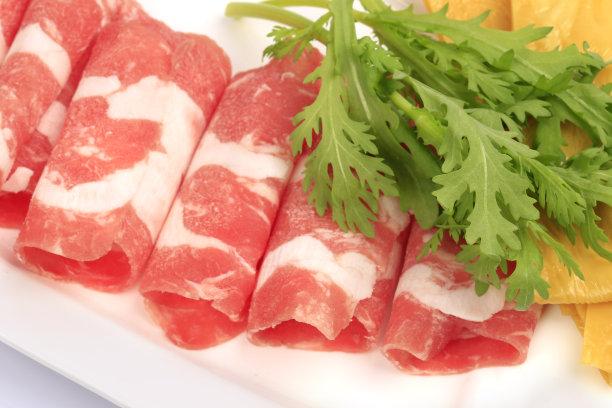 牛肉羊肉盘子