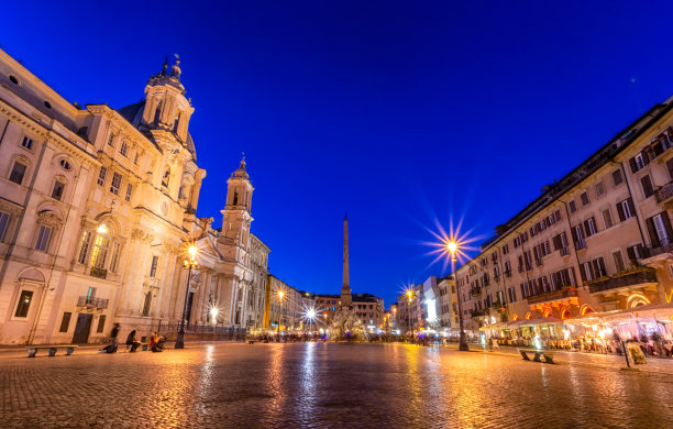 罗马纳沃纳广场意大利