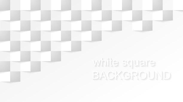 现代三维图形白色