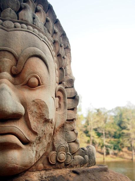 吴哥窟石材雕刻物