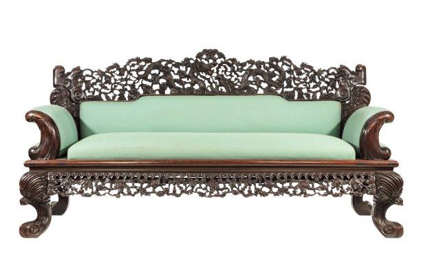 沙发古董木制