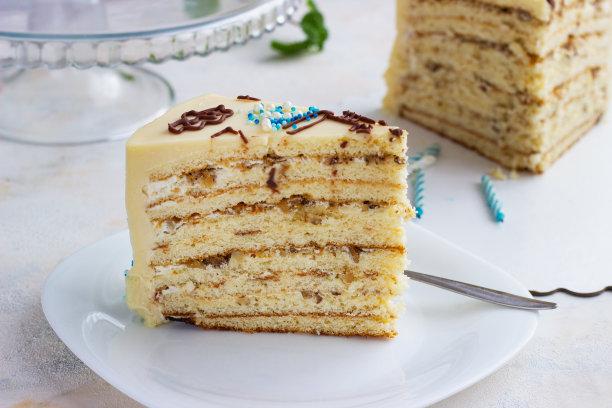 蛋糕婴儿切片食物