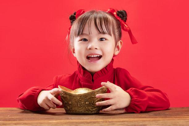 春节元宝女孩