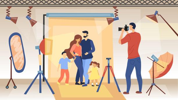 专业人员家庭图片