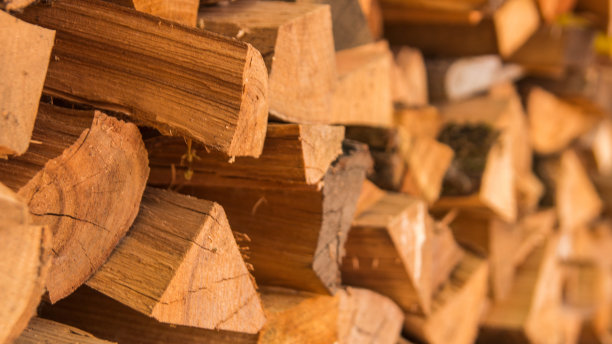 堆木制纹理效果