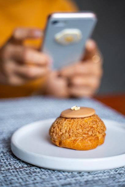 奶油甜点心餐馆