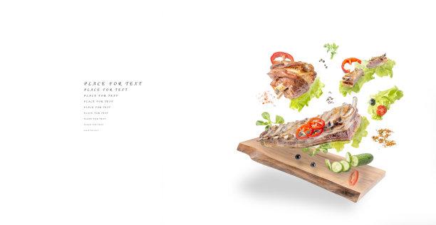 白色背景蔬菜创意