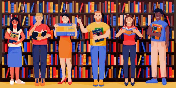 图书馆书店图片