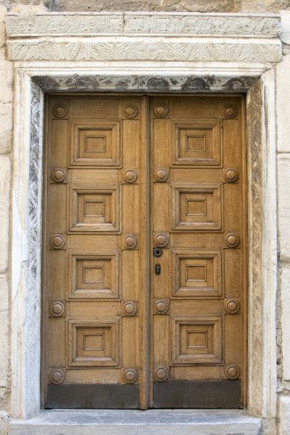 门木制雕刻