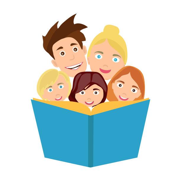 家庭绘画插图图片