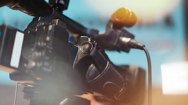 电视摄像机记者招待会图片