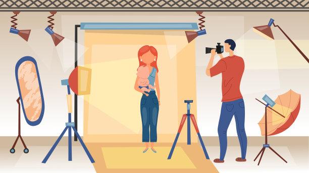 摄影师相机图片