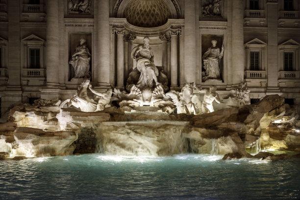 罗马特莱维喷泉意大利