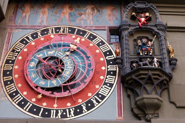 钟塔天文钟瑞士