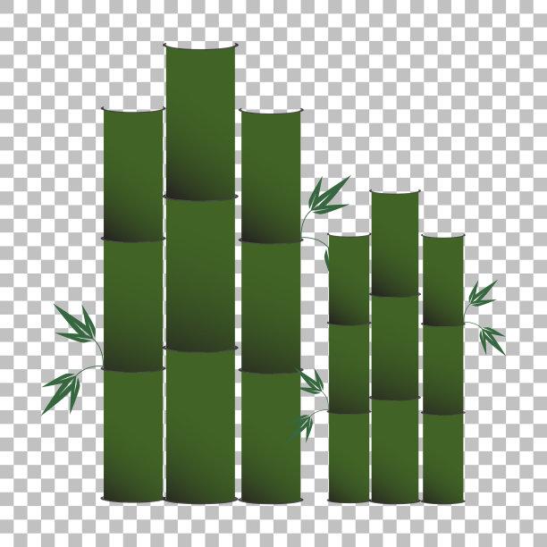笋绿色背景分离