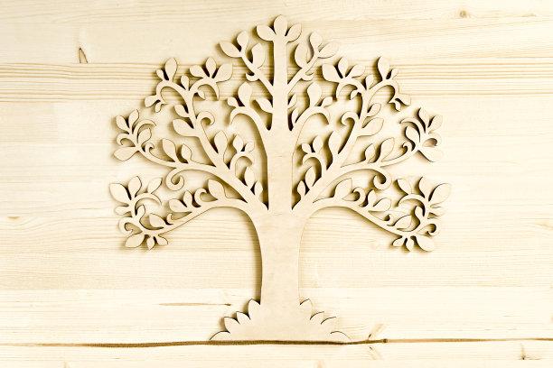 背景木制装饰品