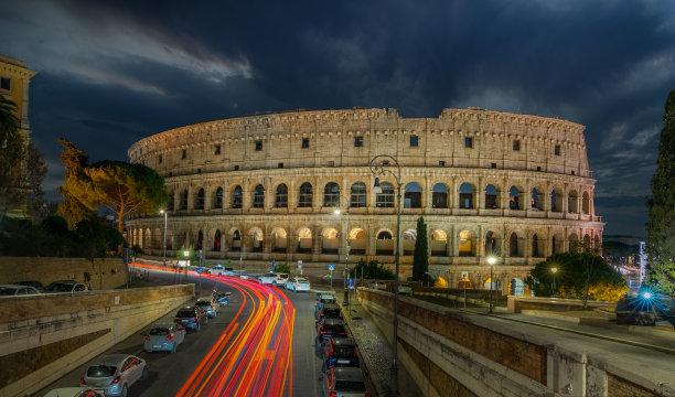 罗马意大利夜晚