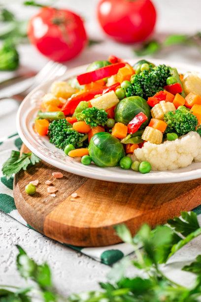 蔬菜摆盘场景