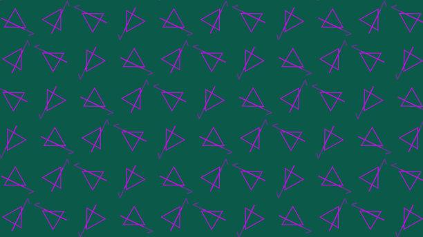三角形多色的几何形状
