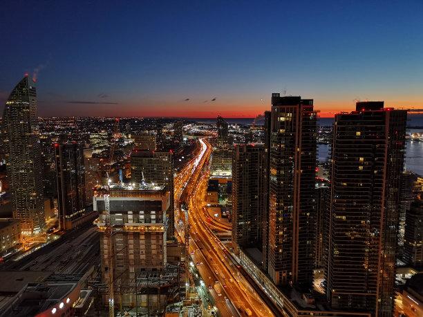 多伦多城市曙暮光