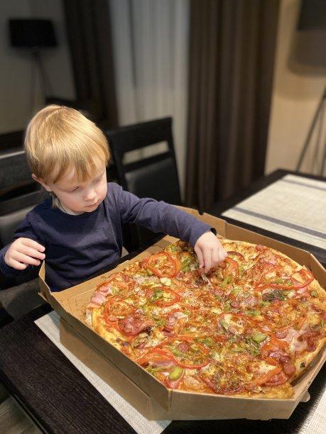 比萨饼婴儿菜单