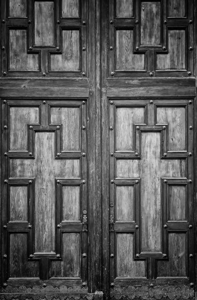 木制大门十字形