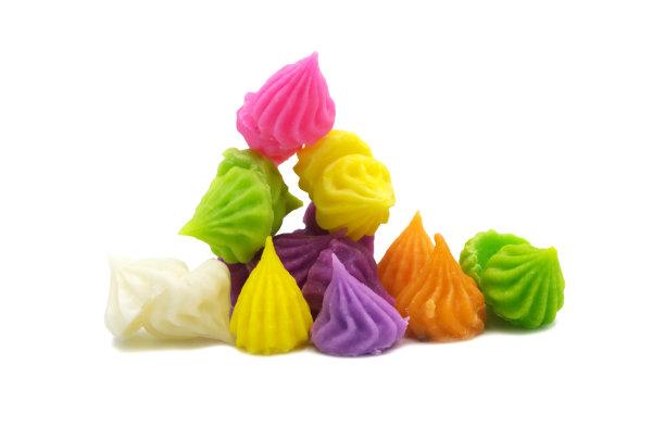 白色背景甜食面粉