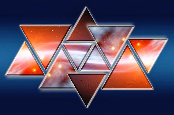 三角形式样橙色