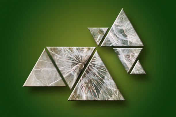 三角形式样抽象
