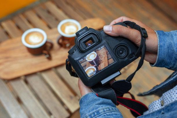 咖啡杯数字化显示图片