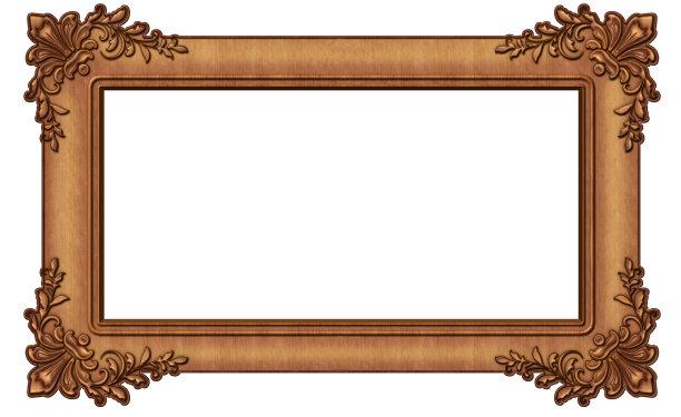 边框木制白色背景