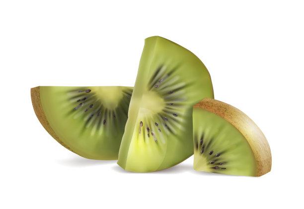 切片食物猕猴桃写实