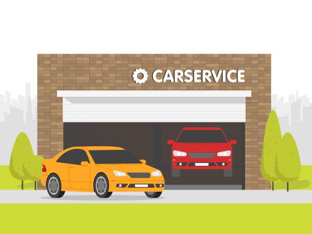 汽车,车库,维修车间