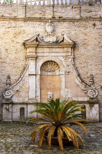 建筑古老的意大利
